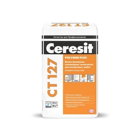 Ceresit CT 127 CT 127 POLYMER PLUS/Церезит ЦТ 127 ПОЛИМЕР ПЛЮС полимерная шпаклевка для внутренних работ