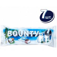 Шоколадные батончики Bounty (7 штук по 27.5 г)