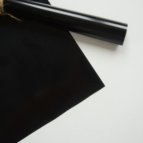 Термотрансферная пленка  глянцевая, цвет: черный, размер отреза:  25х25 см