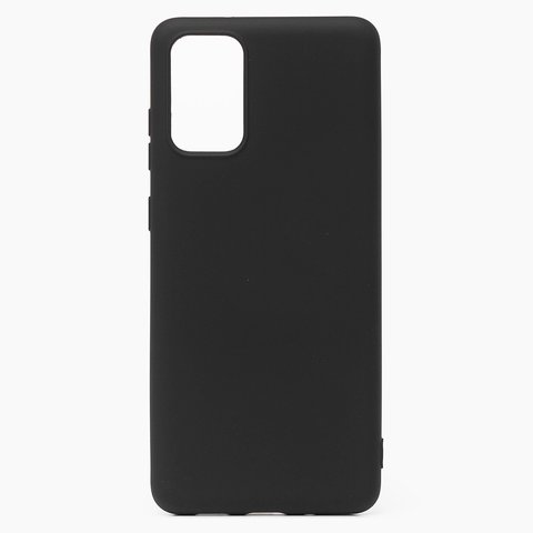 Чехол для Samsung (G985) Galaxy S20+ Софт тач мягкий эффект | микрофибра, черный