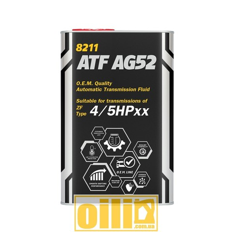 Mannol 8211 ATF AG52 AUTOMATIC SPECIAL 1л