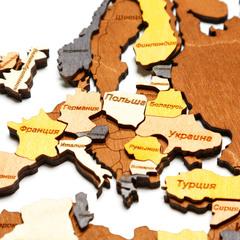 Карта Мира из дерева Color фото 4