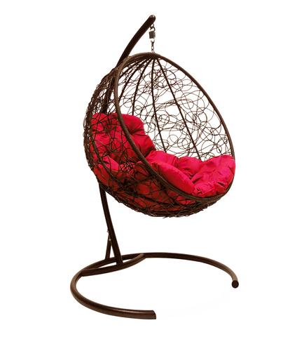 Кресло подвесное Milagro brown/crimson
