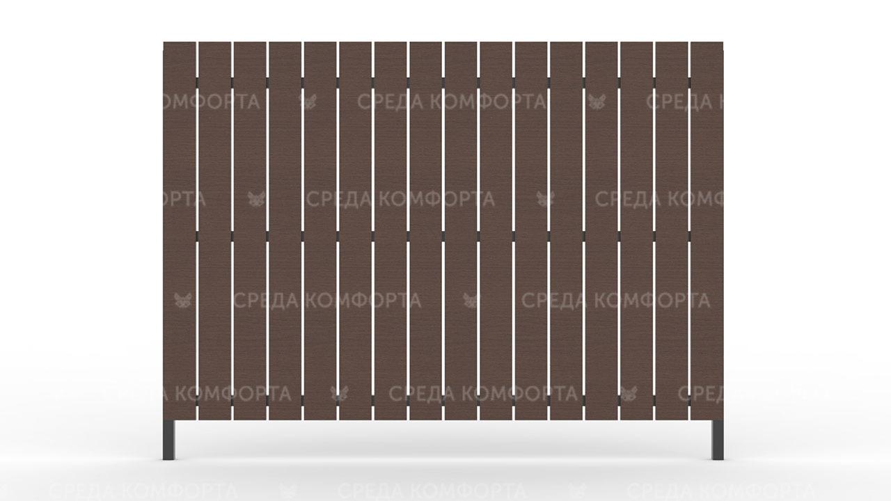 Деревянный забор ZBR0002