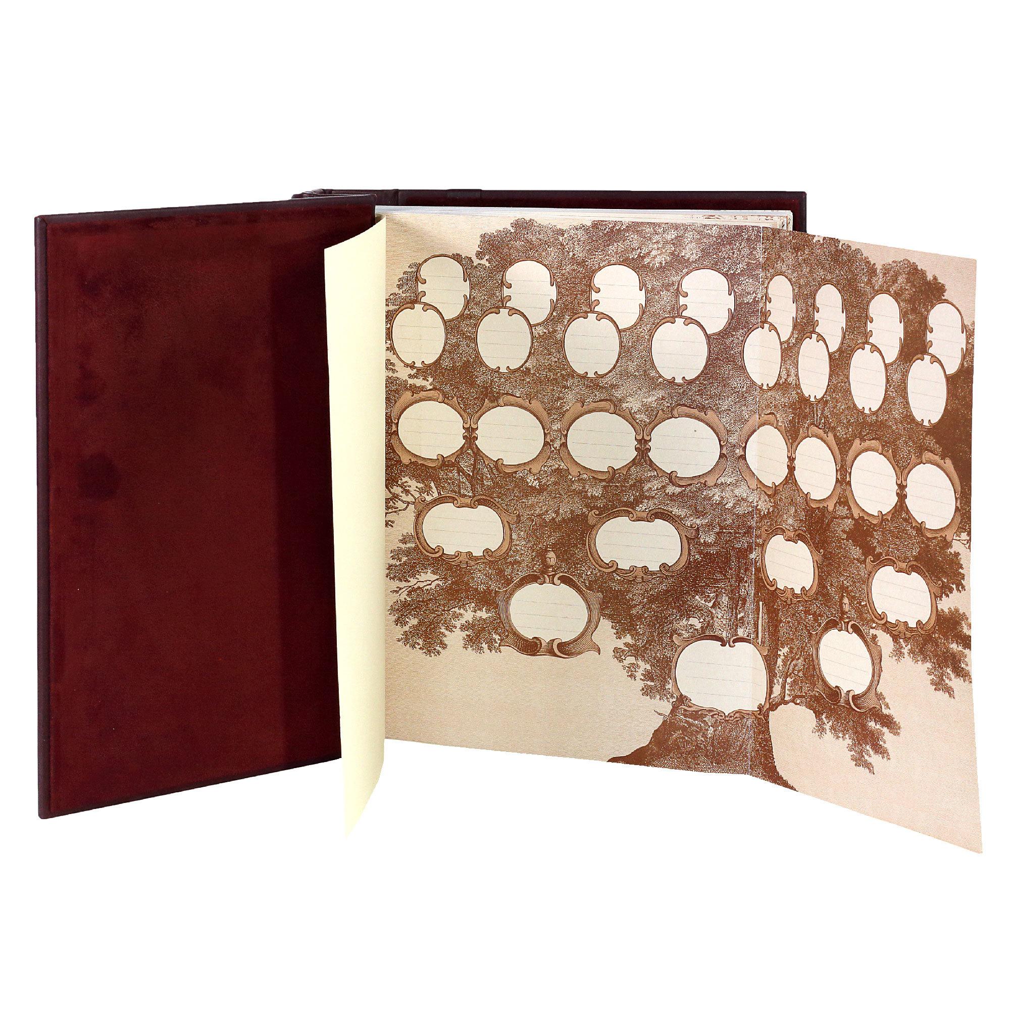 Родословная книга «Семейное древо». Цвет бордо