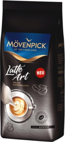 Кофе в зернах Movenpick Latte Art 1000 г