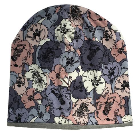 Детская шапочка бини с принтом Фиалки