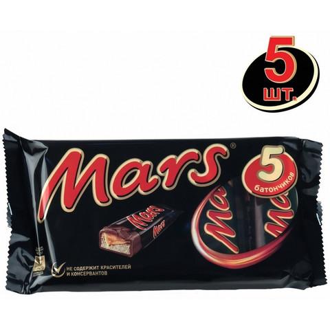 Шоколадные батончики Mars (5 штук по 40.5 г)