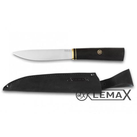 Нож Якутский, 95Х18, чёрный граб