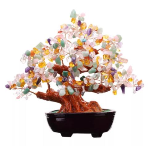 Денежное дерево с цветными камнями