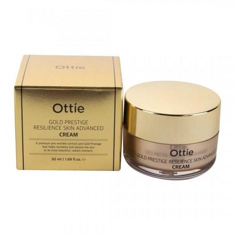 Ottie Gold Prestige Resilience Advanced Cream увлажняющий крем для упругости кожи лица для сухой и нормальной кожи