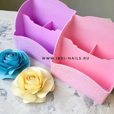 Подставка для кистей и пилок большая фиолетовая