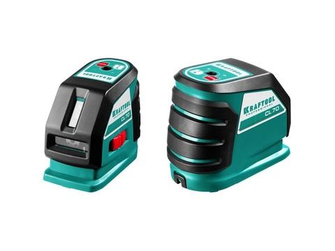 KRAFTOOL CL-70 нивелир лазерный , 20м/70м, IP54, точн. +/-0,2 мм/м, питание 4хАА, в коробке
