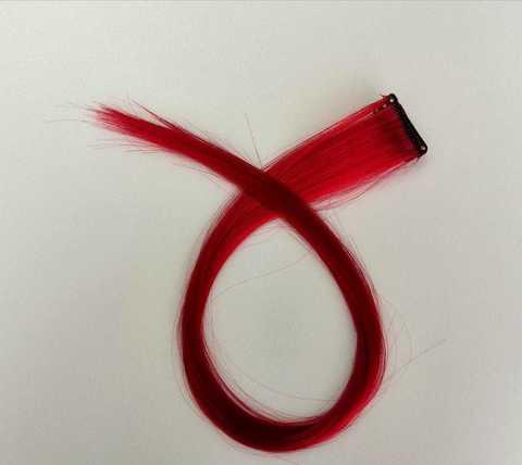 Пряди для волос, цвет красный. Длина 47см. (1415)