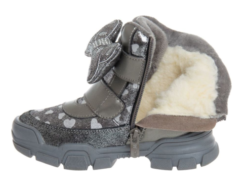 Ботинки зимние серые с бантиком (27-32) Сказка (Ньютон)