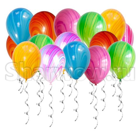 Воздушные шары под потолок Яркое ассорти из агатов