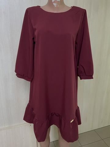 Ірма. Красива сукня вільного крою. Бордо