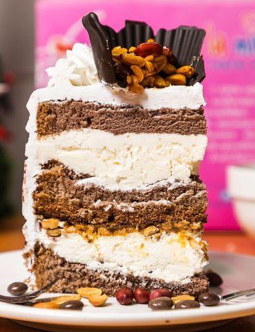 Торт круглый Микро Сникерс