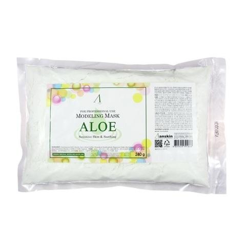 Альгинатная маска успокаивающая с алоэ Anskin Aloe Modeling Mask (240 гр., пакет)