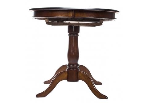 Стол деревянный кухонный, обеденный, для гостиной раскладной Elva tobacco 80*80*75 Tobacco