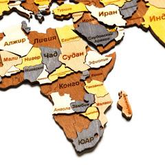 Карта Мира из дерева Color фото 7