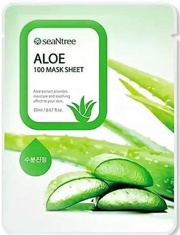 SeaNtree Тканевая маска с экстрактом алоэ Aloe Mask Sheet, 1 шт