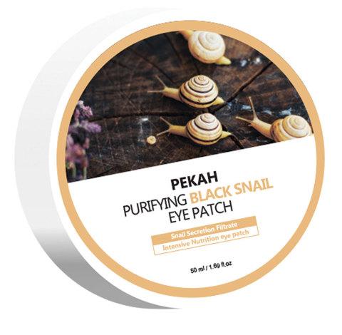 PEKAH Омолаживающие патчи для глаз с муцином черной улитки Purifying Black Snail Eye Patch, 90g/60EA