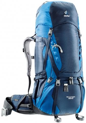 Картинка рюкзак туристический Deuter Aircontact 65+10 Midnight-Ocean - 1