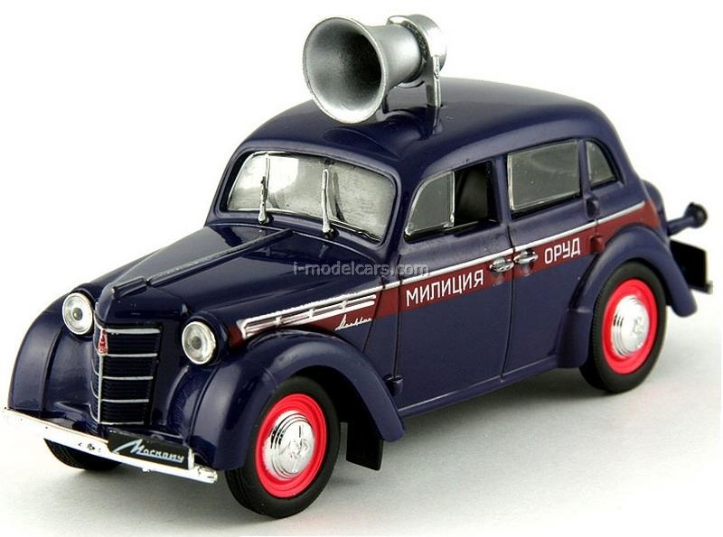 855c de agostini 1953 moskvitch 400-420 orud police soviet 1:43