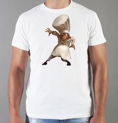 Футболка с принтом мультфильма Рататуй (Ratatouille) белая 002