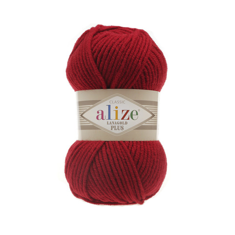 Пряжа Alize Lanagold Plus красный 56