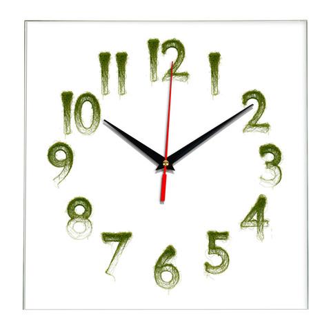 Часы настенные стеклянные, плавный бесшумный механизм, 28 см
