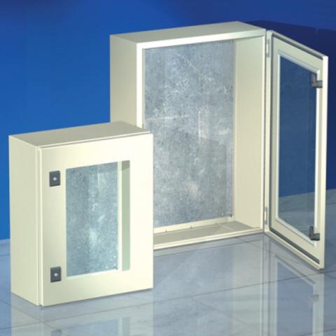 Навесной шкаф CE, с прозрачной дверью, 500 x 400 x 250мм, IP55