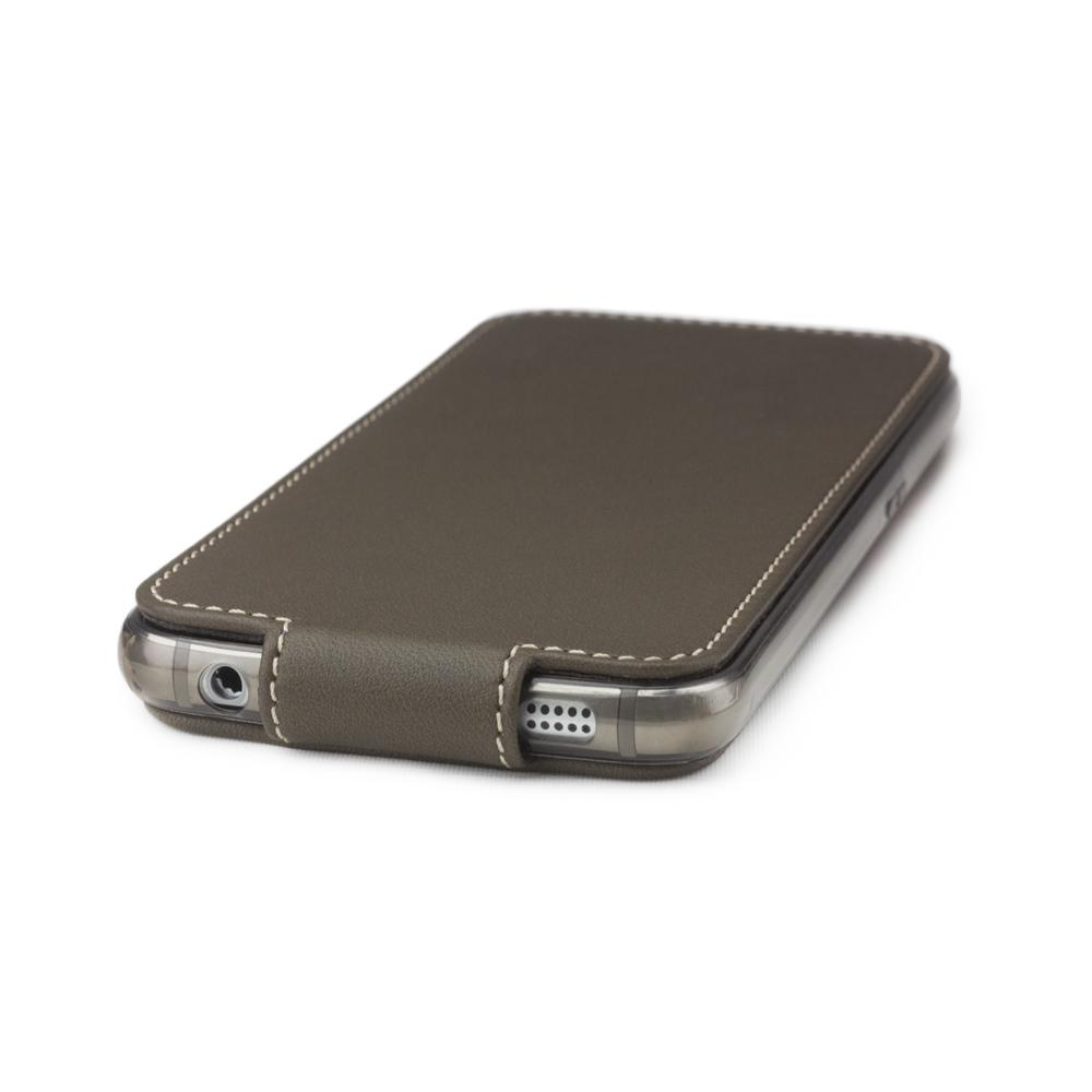 Чехол для Samsung Galaxy S6 из натуральной кожи теленка, цвета хаки