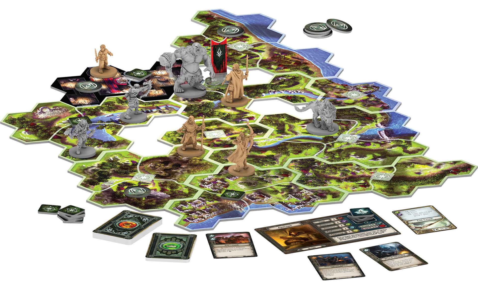 Настольная игра Властелин колец: Странствия в Средиземье: игровое поле