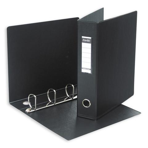 Папка на 4-х кольцах Bantex 60 мм черная до 350 листов