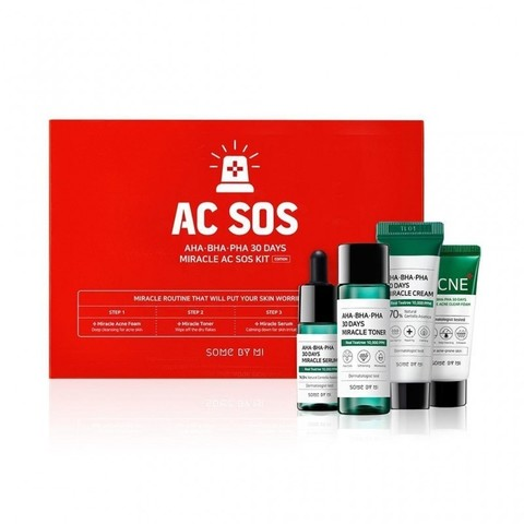 Some By Mi AC SOS AHA-BHA-PHA 30 Days Miracle AC SOS Kit Travel-набор миниатюр с кислотами для проблемной кожи