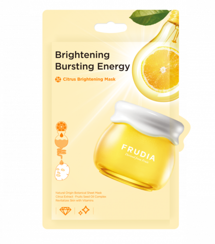 Frudia Citrus Brightening Mask Маска тканевая для придания сияния с цитрусом, 20 мл