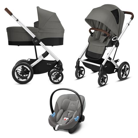 Детская коляска Cybex Talos S Lux 3 в 1 SLV Soho Grey