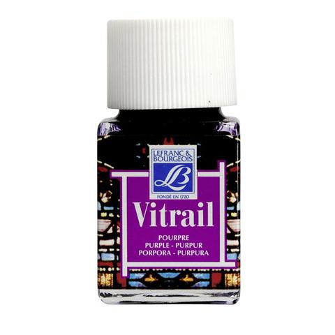 Краска по стеклу Lefranc&Bourgeois VETRAIL 50 мл 350, пурпурный