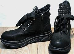 Ботинки кроссовки женские Rifellini Rovigo 525 Black.