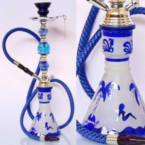 Кальян  Арабский с девушками цветное и матовое стекло 1 трубка
