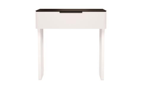 Стол туалетный Танго 6 Ижмебель белый/черный матовый
