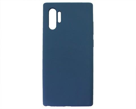 Чехол для Samsung Galaxy (N975F) Note 10+ Софт тач мягкий эффект | микрофибра темно-синий