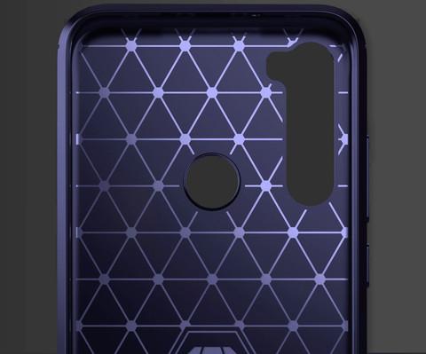 Carbon / Чехол для Xiaomi Redmi Note 8 серия Карбон | синий