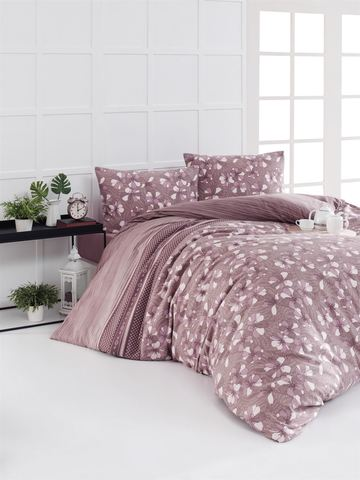 Комплект постельного белья DO&CO FLANNEL Евро (50х70/2) GIANNA цвет брусничный