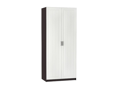 Шкаф двухстворчатый Прага ШК-902 универсальный Браво Мебель венге, белый