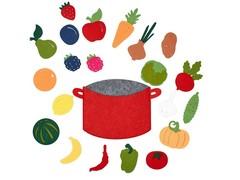 Игра из фетра Овощи, фрукты и ягоды, Smile decor, арт. Ф272