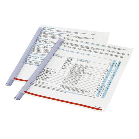 Скрепкошина для брошюровки Durable для А4 до 30 листов прозрачная