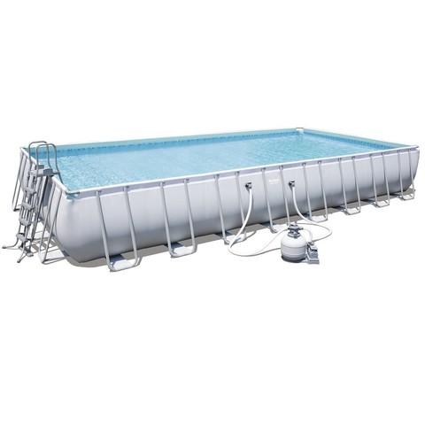 Каркасный бассейн Bestway 56623 (956х488х132 см) с песочным фильтром, лестницей и тентом / 16590